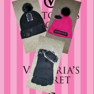 ❄ New VS BUNDLE 2 HATS & GLOVES winter